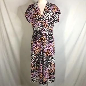 Veronica Beard size 4 NWT pink leopard print dress